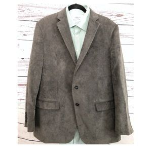 Calvin Klein Gray Men's Corduroy Sports Blazer
